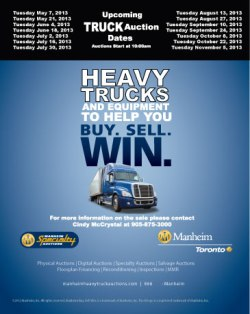 Manheim Truck Auctions Advertisement