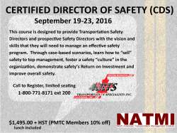 NATMI Director of Safety Course