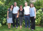 (Left to right: Maggie Dunnett, Dr. Chris Page, Dr. Mary-Jean Page, Connor Page, Dianne Holmes)