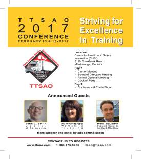 TTSAO Conference 2017