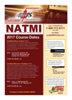 NATMI Courses 2017